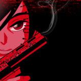 『銃を持った女性』(FPSっぽいキャラクター)のイラスト