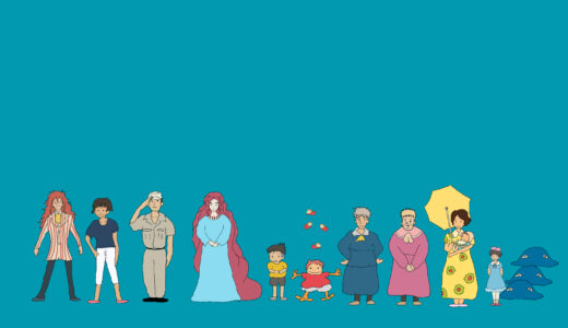 『崖の上のポニョ』のキャラクターや年齢一覧(&全キャライラスト)